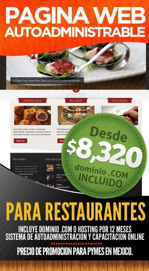Desarrollo de Páginas de Internet para Restaurantes en Cancún, Mexico